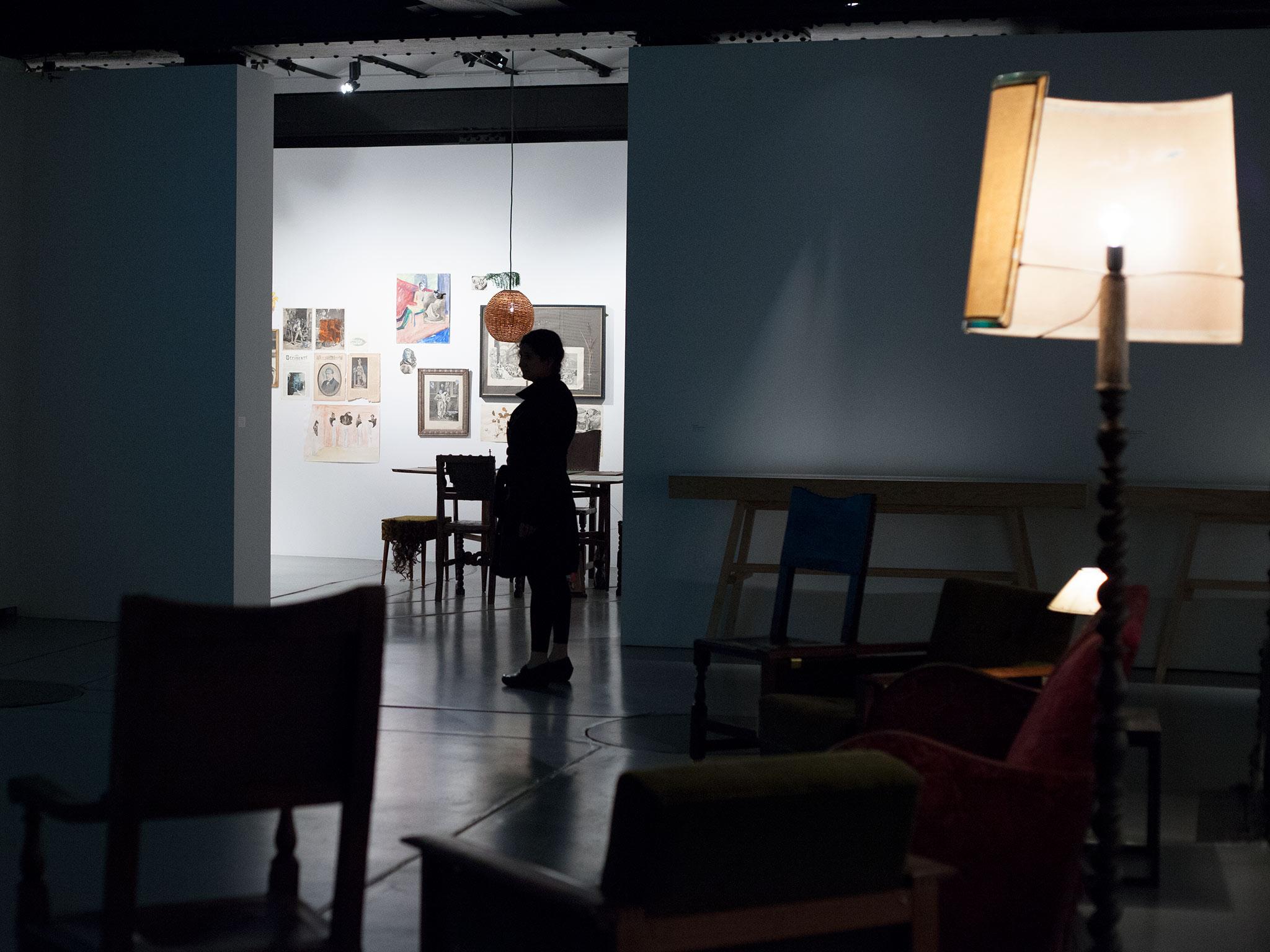 paula roush+ maria lusitano, Queer Paper Gardens installation view. Museu da Electricidade, Lisbon 2013