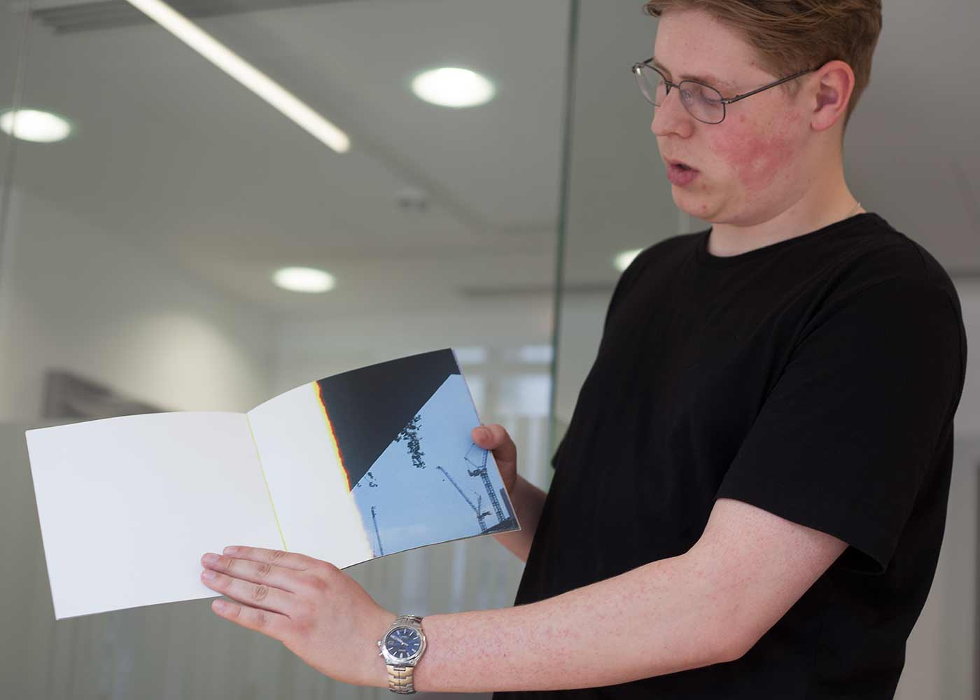 Alex Smith studies photography in the BA Photography (2nd year) at the School of Arts and Creative Industries, LSBU, and presented his new photobook OVERGROWN