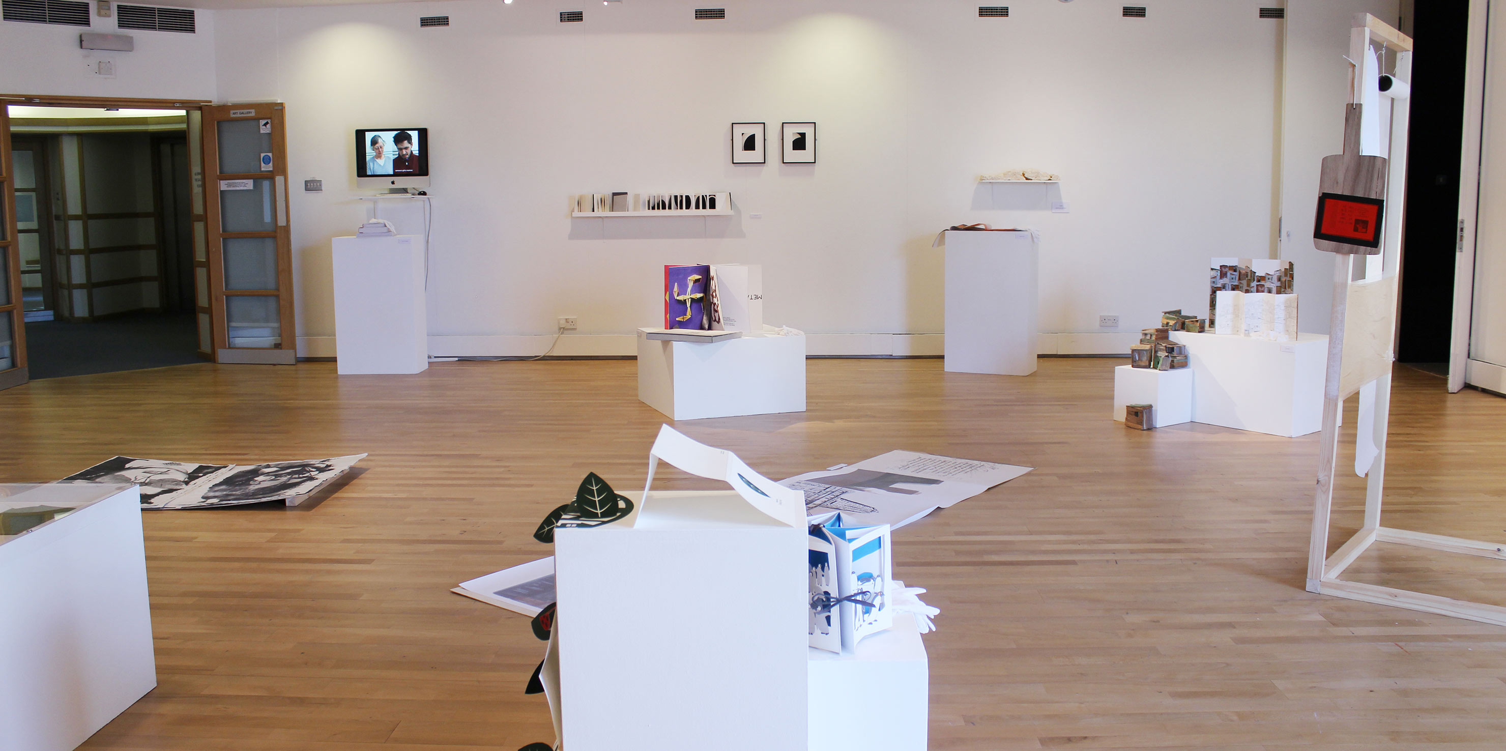 art in a bookshell: views of the exhibition in the milton gallery
