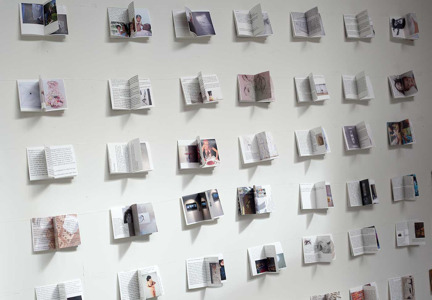 Ə-Books #1: Lara Gonzalez, Made and Published [Procreate Project], Exhibition view, Ə /Uh/-Books Project Space For Material Publishing, London