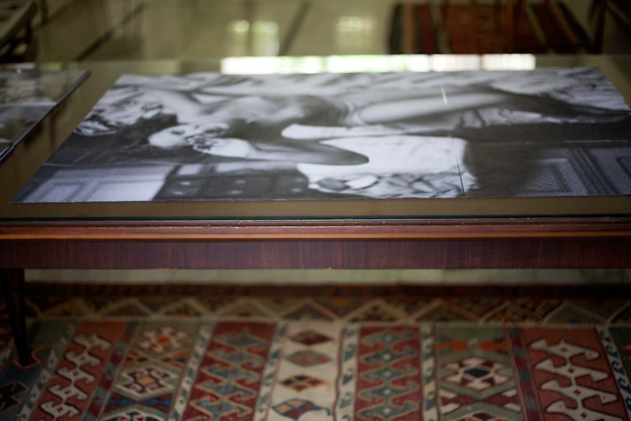 paula roush: Torn folded curled (Rositta), exhibition view, Makan/PlanBEY, Beirut